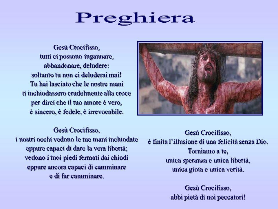 Perché, o Signore, non sei sceso dalla croce rispondendo alle nostre provocazioni? Non sono sceso dalla croce perché altrimenti avrei consacrato la fo