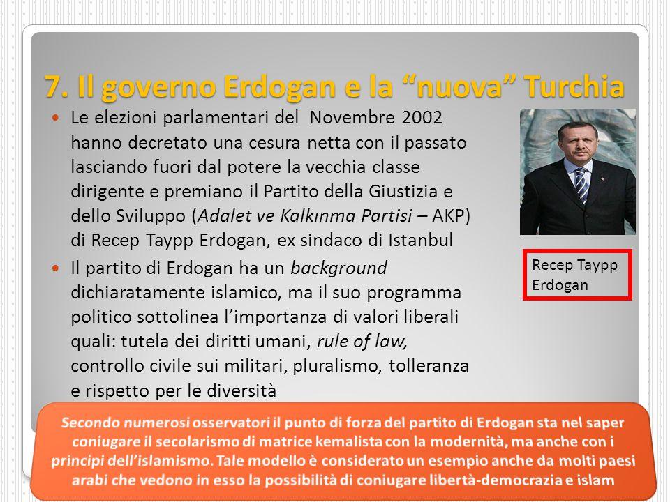 """7. Il governo Erdogan e la """"nuova"""" Turchia Le elezioni parlamentari del Novembre 2002 hanno decretato una cesura netta con il passato lasciando fuori"""