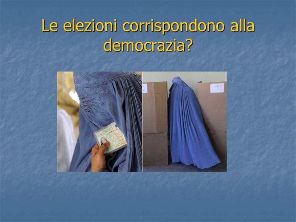 Le elezioni corrispondono alla democrazia