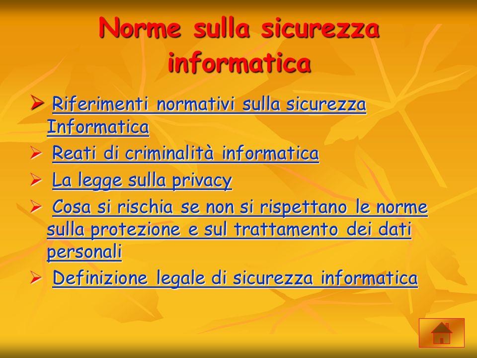 Norme sulla sicurezza informatica  Riferimenti normativi sulla sicurezza Informatica Riferimenti normativi sulla sicurezza Informatica Riferimenti no