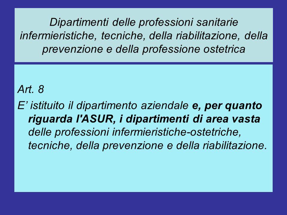 I Direttori del Dipartimento delle Professioni e delle Aziende ospedaliere sono nominati dal Direttore Generale ASUR e dai Direttori Generali delle Aziende Ospedaliere.