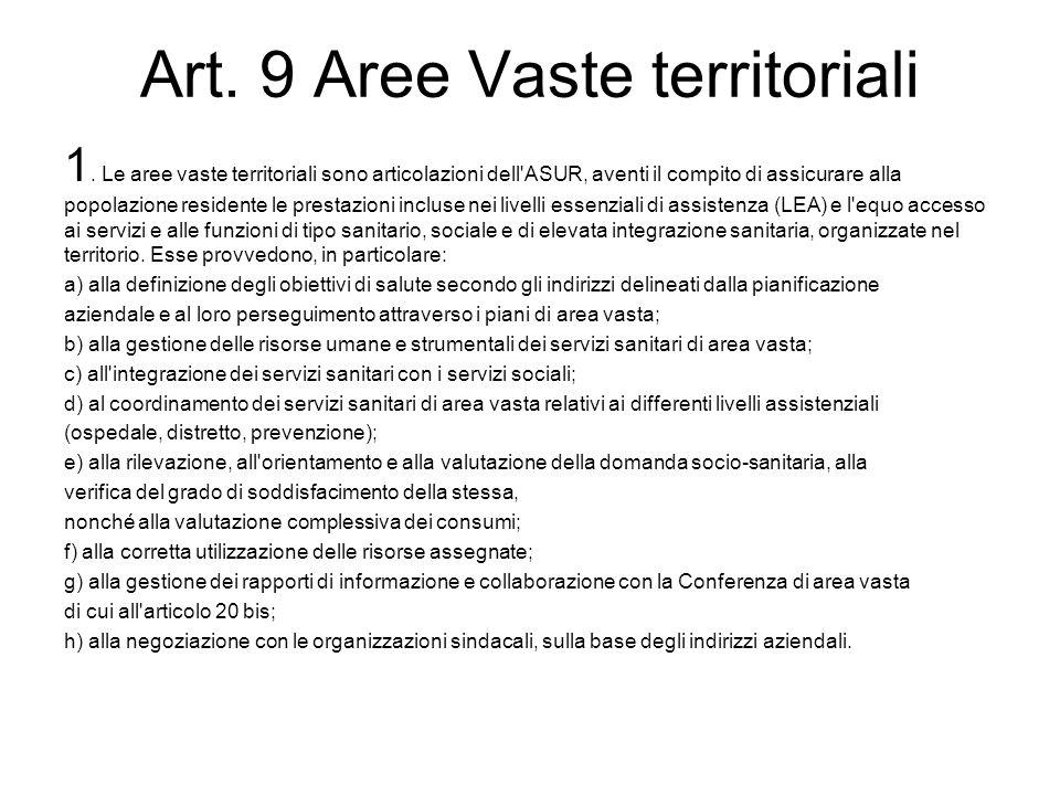 2.L area vasta è unità amministrativa autonoma ai fini della contrattazione collettiva.