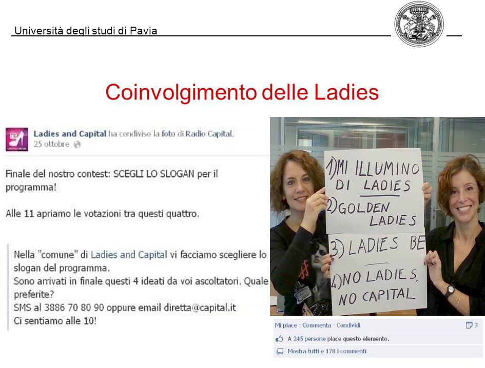 Università degli studi di Pavia. Coinvolgimento delle Ladies