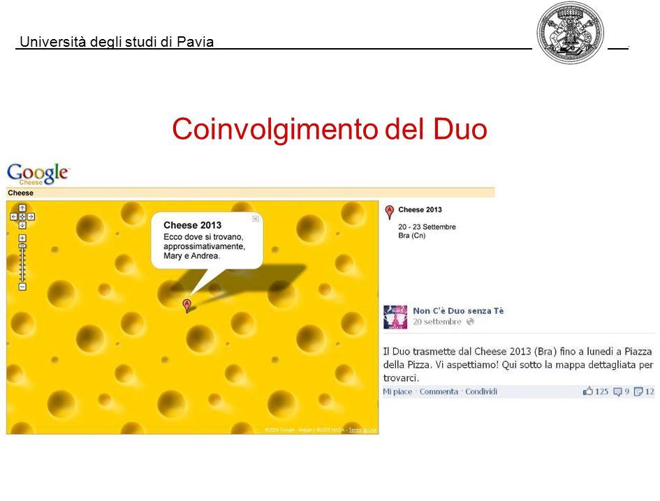 Università degli studi di Pavia. Coinvolgimento del Duo