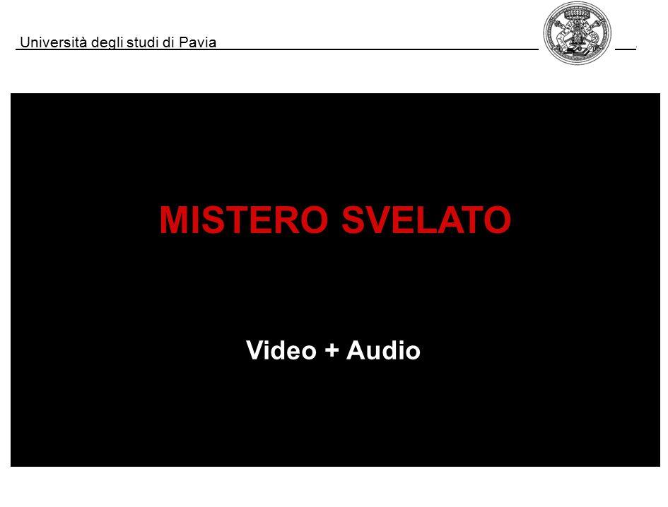 Università degli studi di Pavia. MISTERO SVELATO Video + Audio