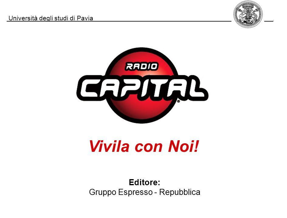 Università degli studi di Pavia. Editore: Gruppo Espresso - Repubblica Vivila con Noi!
