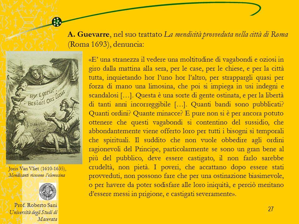 28 4) Il «Grande Internamento» del sec.