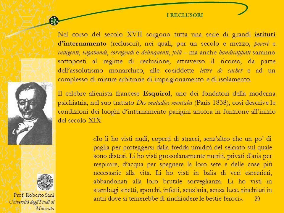 30 Una data può servire come punto di riferimento: il 1656, l'anno del decreto di fondazione dell'Hôpital général di Parigi.