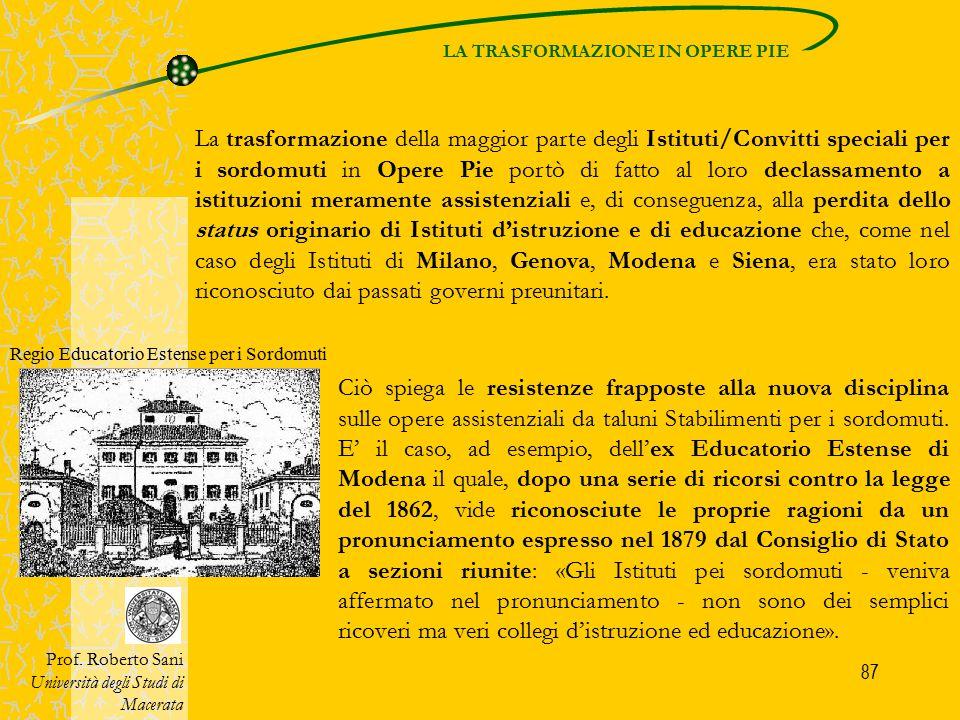 88 DECLASSAMENTO DEGLI ISTITUTI Prof.