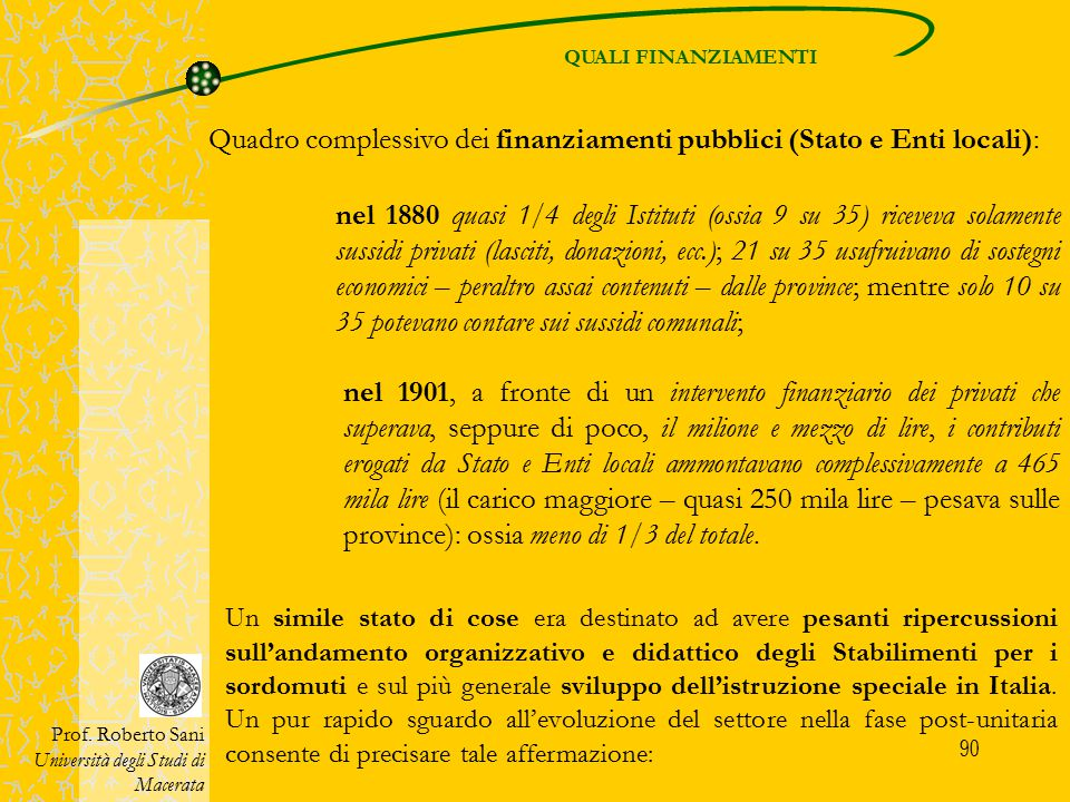 91 SVILUPPO POST-UNITARIO Prof.