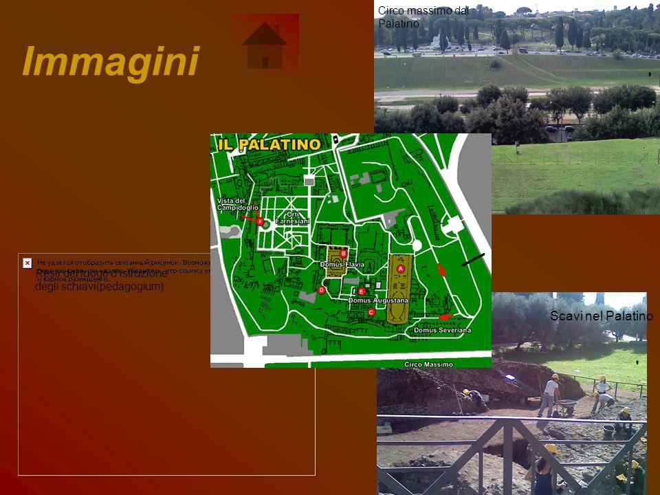 Immagini Circo massimo dal Palatino Scavi nel Palatino Resti del luogo d'istruzione degli schiavi(pedagogium)