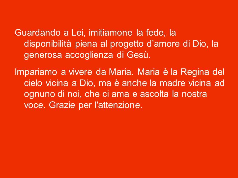 Cari amici, la devozione alla Madonna è un elemento importante della vita spirituale.