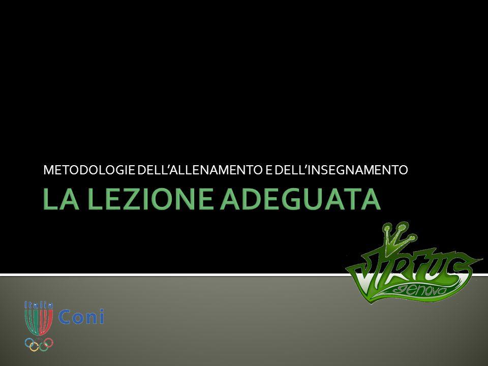 METODOLOGIE DELL'ALLENAMENTO E DELL'INSEGNAMENTO