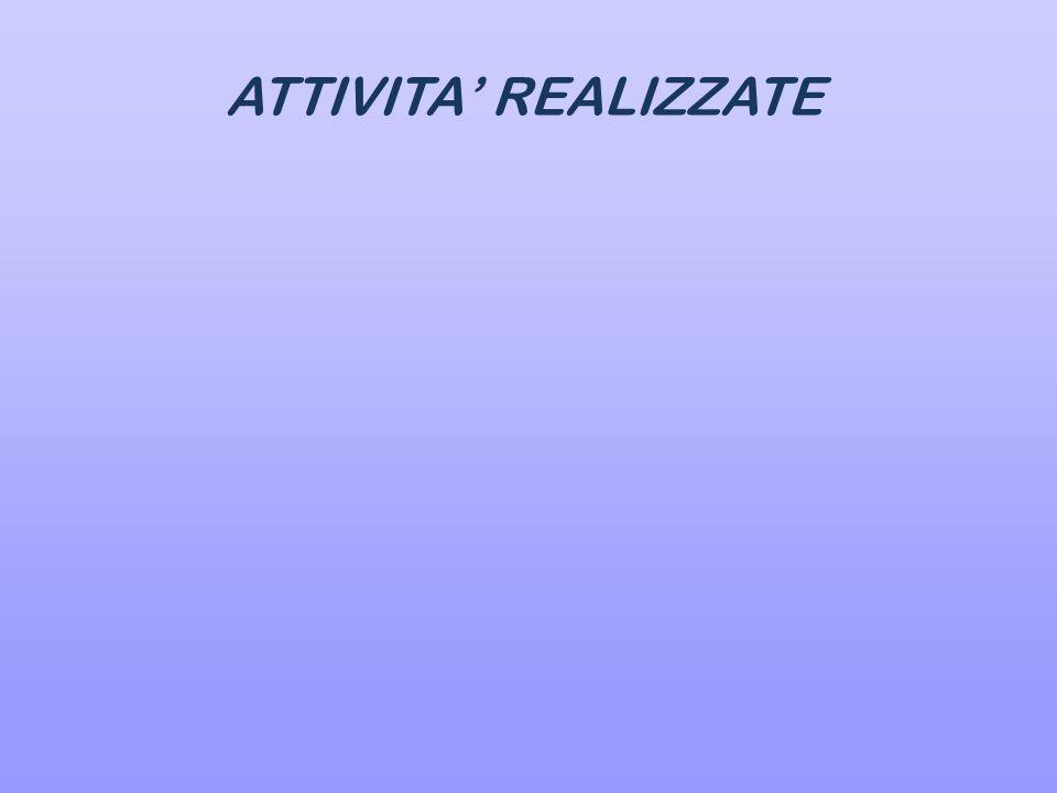 ATTIVITA' REALIZZATE