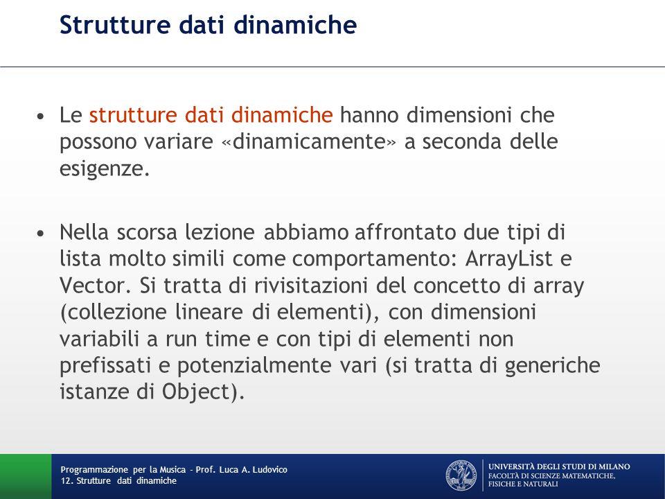 Dizionari Un altro esempio di strutture dati dinamiche è la categoria dei dizionari, ossia collezioni (di dimensioni variabili a run time) di coppie.