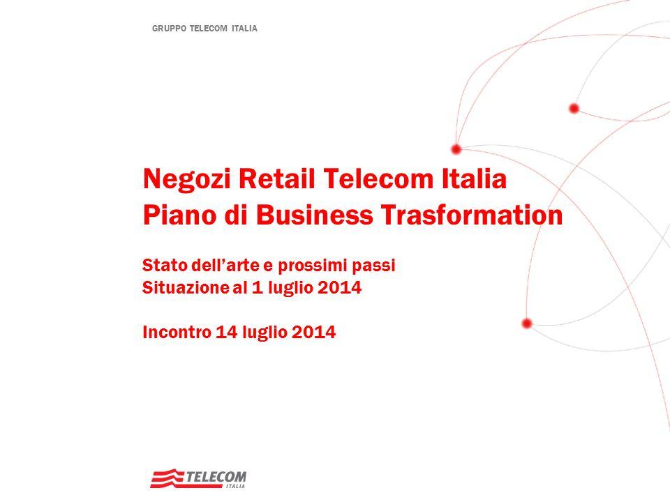 GRUPPO TELECOM ITALIA Negozi Retail Telecom Italia Piano di Business Trasformation Stato dell'arte e prossimi passi Situazione al 1 luglio 2014 Incont