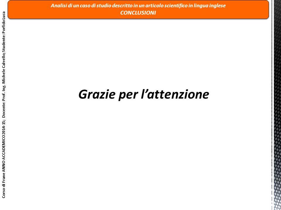 Corso di Frane ANNO ACCADEMICO 2014-15; Docente: Prof. Ing. Michele Calvello; Studente: Porfido Luca Analisi di un caso di studio descritto in un arti