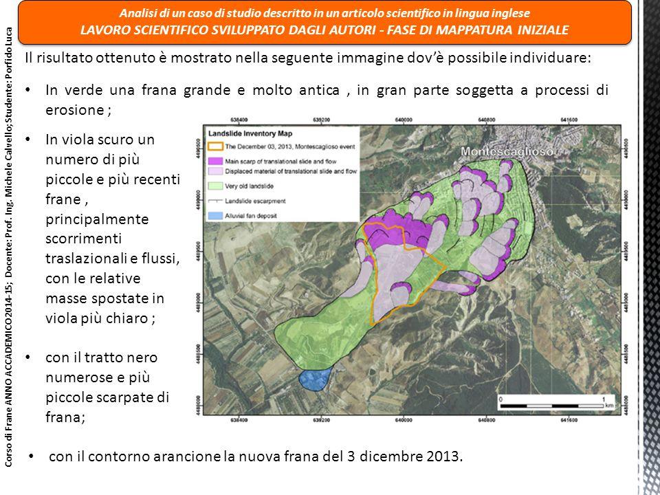 Corso di Frane ANNO ACCADEMICO 2014-15; Docente: Prof.
