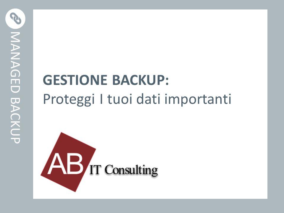 GESTIONE BACKUP: Proteggi I tuoi dati importanti