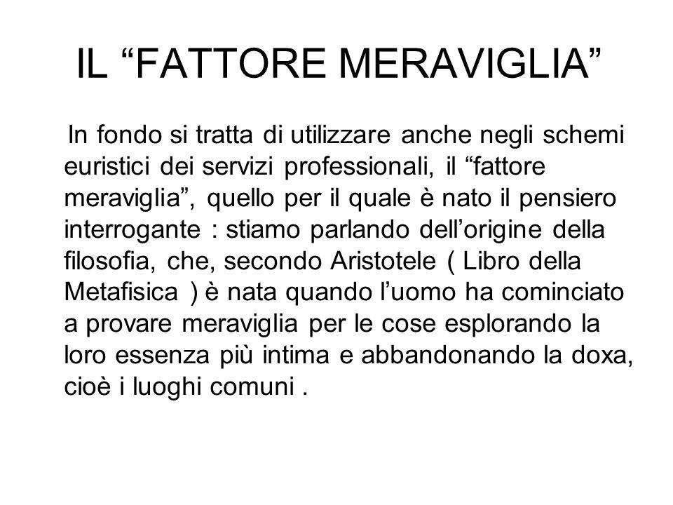 """IL """"FATTORE MERAVIGLIA"""" In fondo si tratta di utilizzare anche negli schemi euristici dei servizi professionali, il """"fattore meraviglia"""", quello per i"""