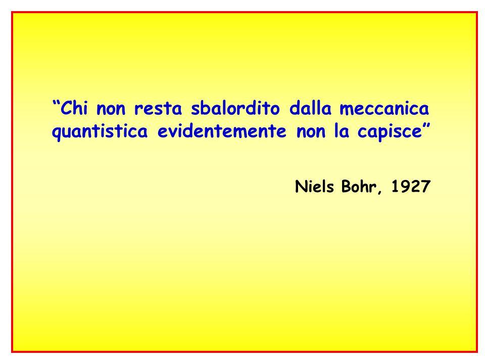 37 Chi non resta sbalordito dalla meccanica quantistica evidentemente non la capisce Niels Bohr, 1927