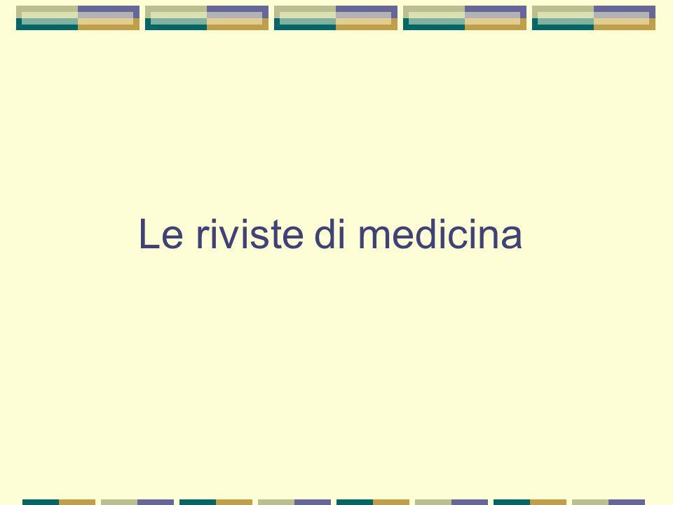 Le riviste di medicina
