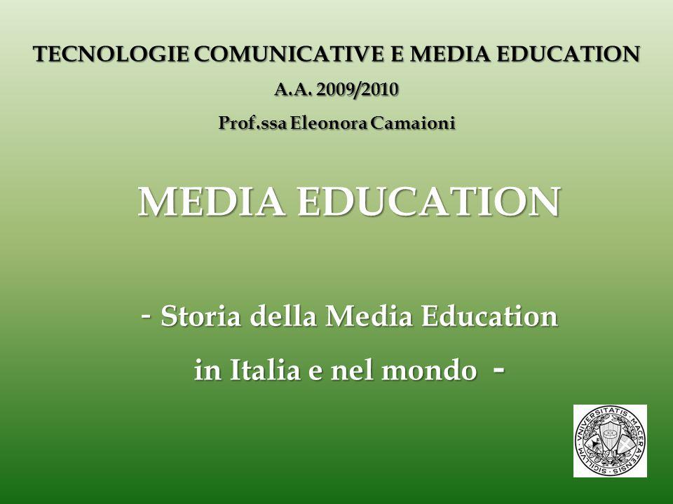ME: primi sviluppi nel XX secolo - in Italia - Il secolo si apre con l'affermazione della settima arte : il cinema.