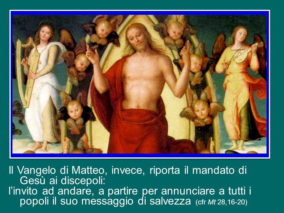 Oggi, in Italia e in altri Paesi, si celebra l'Ascensione di Gesù al cielo, avvenuta quaranta giorni dopo la Pasqua. Gli Atti degli Apostoli raccontan
