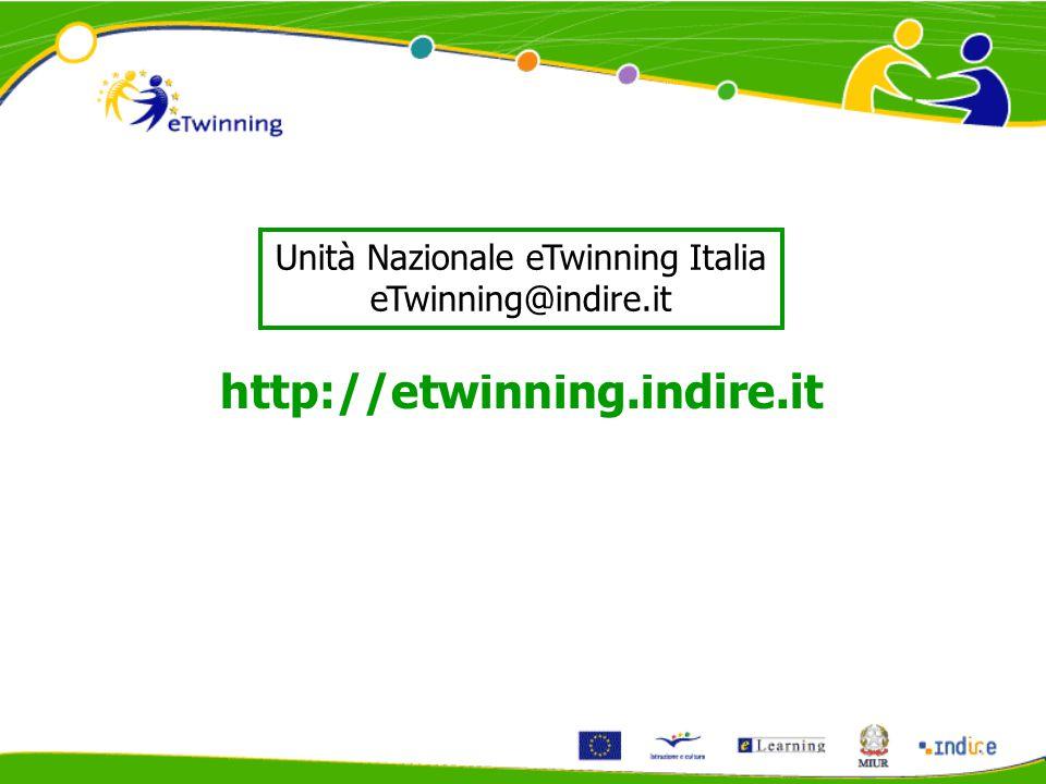 Unità Nazionale eTwinning Italia eTwinning@indire.it http://etwinning.indire.it
