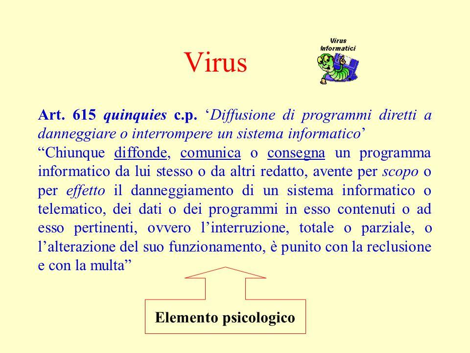 Virus Art. 615 quinquies c.p.