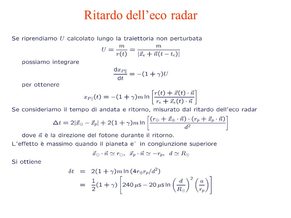 Ritardo dell'eco radar