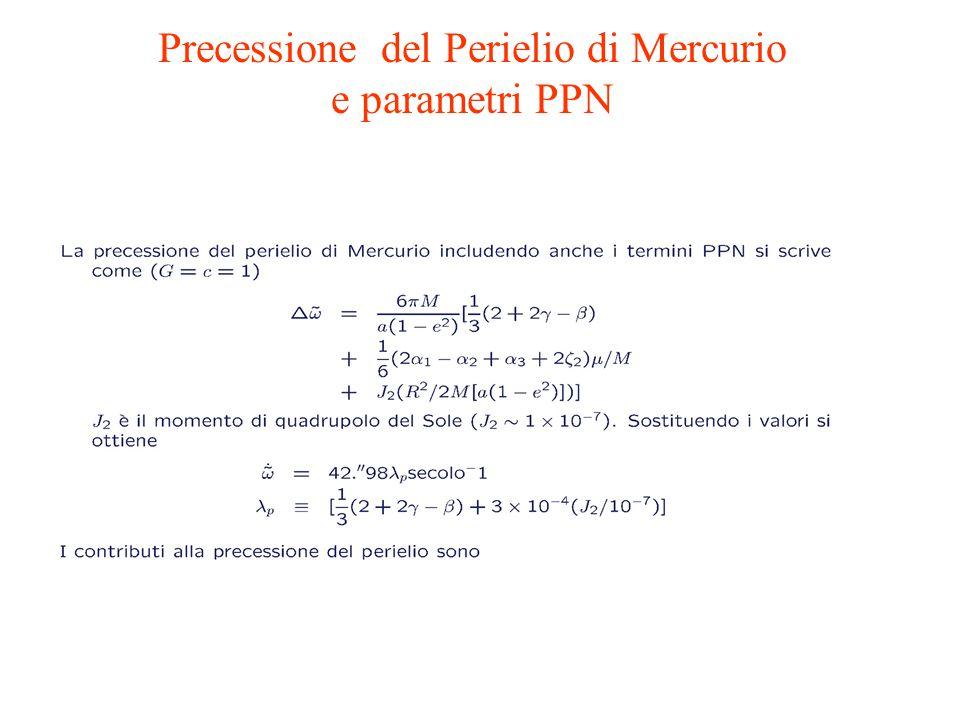 Precessione del Perielio di Mercurio e parametri PPN