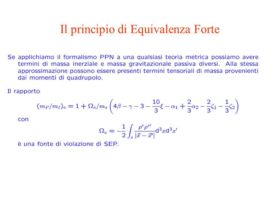 Il principio di Equivalenza Forte