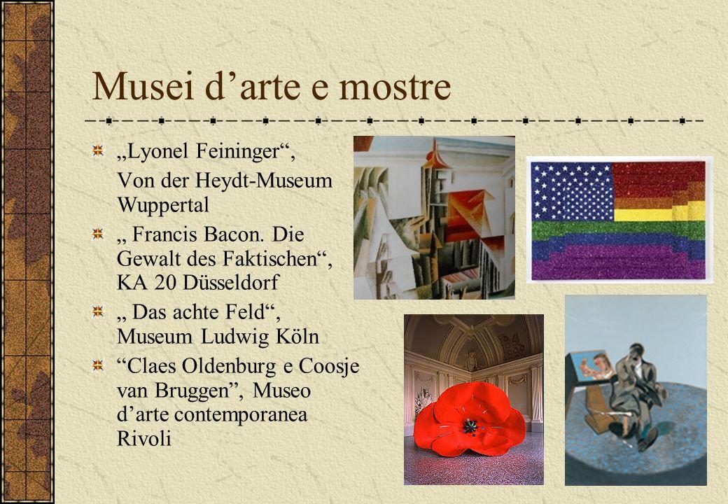 "Musei d'arte e mostre ""Lyonel Feininger , Von der Heydt-Museum Wuppertal "" Francis Bacon."