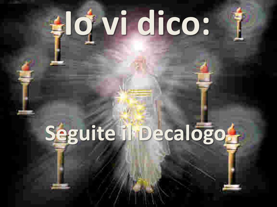 SANTIFICA LA FESTA. E' un'ordine spirituale. Santo il lavoro, Santissimo Iddio.