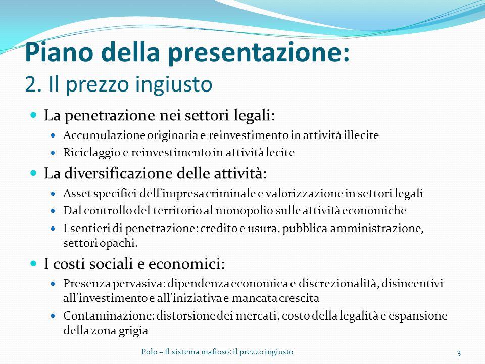 Piano della presentazione: 2.