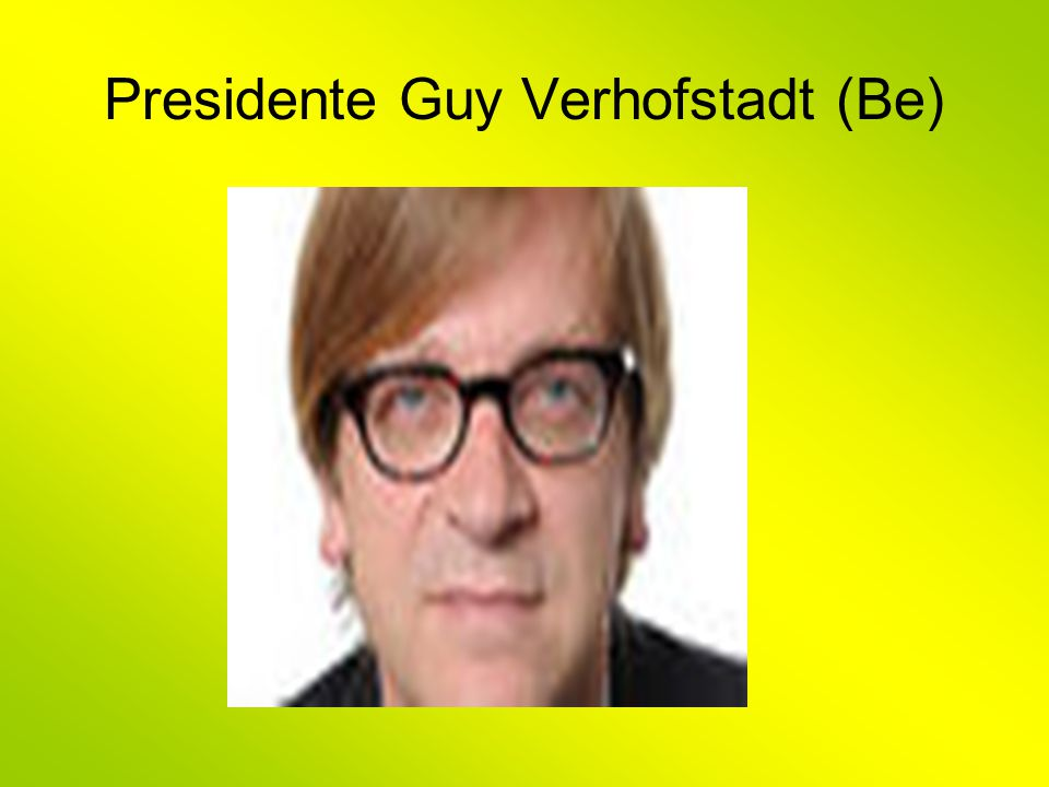 Presidente Guy Verhofstadt (Be)
