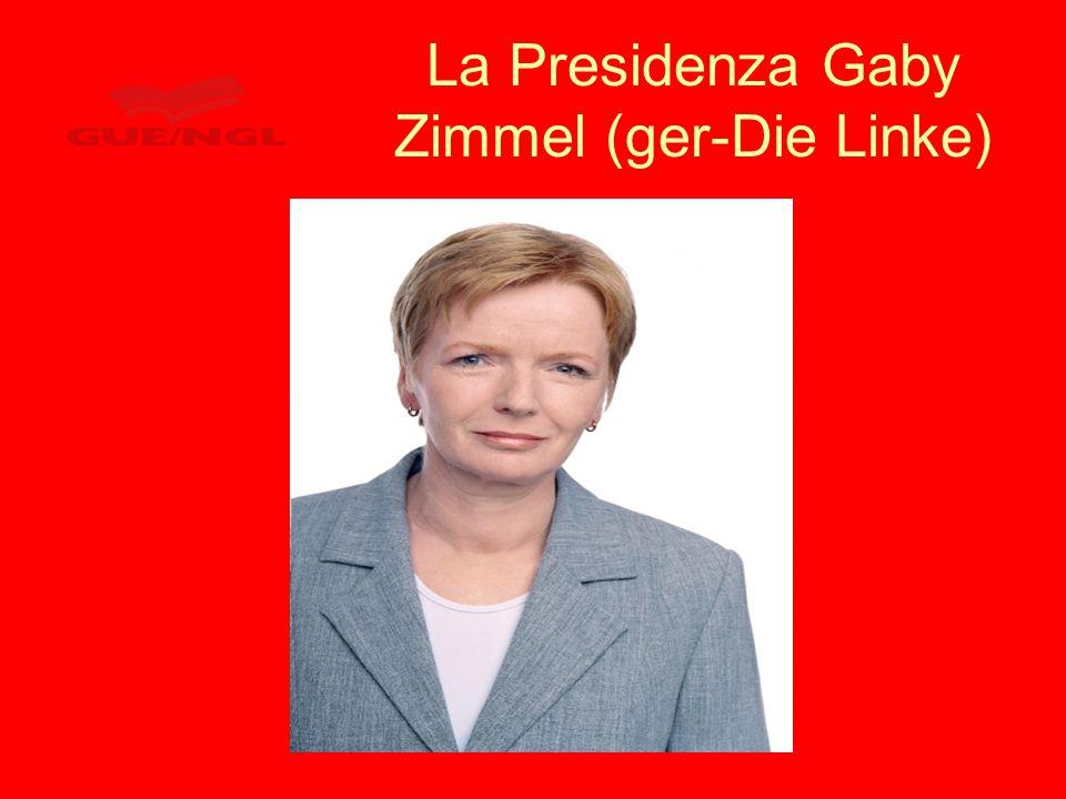 La Presidenza Gaby Zimmel (ger-Die Linke)