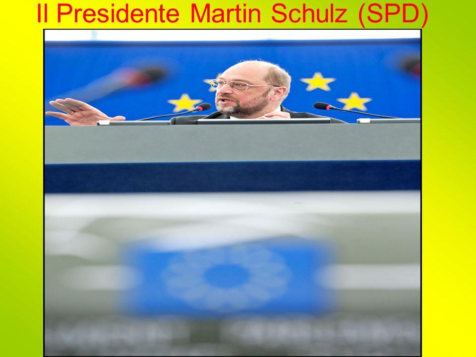 Il Presidente Martin Schulz (SPD)