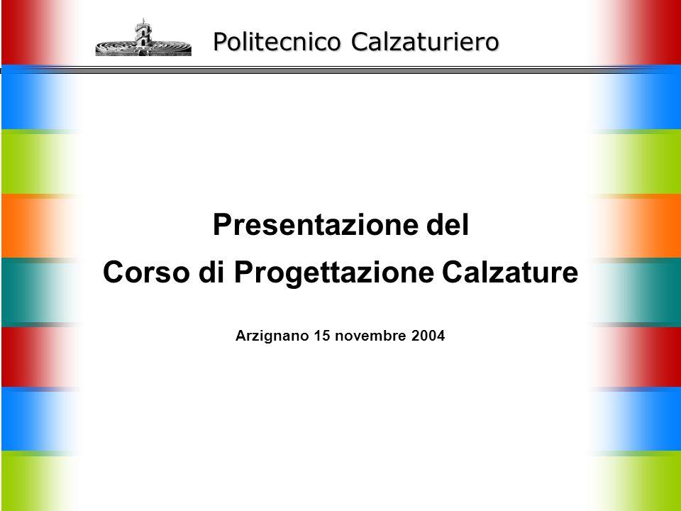 Politecnico Calzaturiero Presentazione del Corso di Progettazione Calzature Arzignano 15 novembre 2004