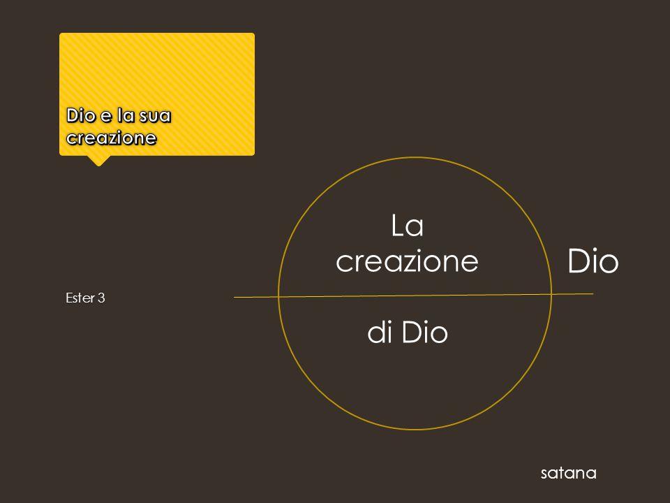 Ester 3 La creazione di Dio Dio satana