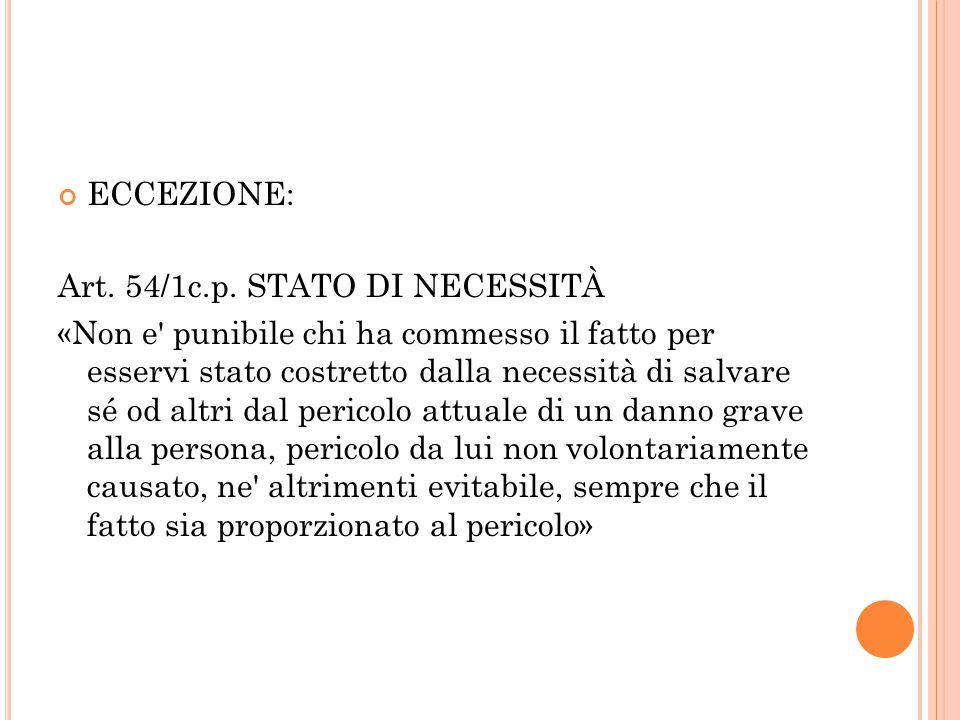 ECCEZIONE: Art.54/1c.p.