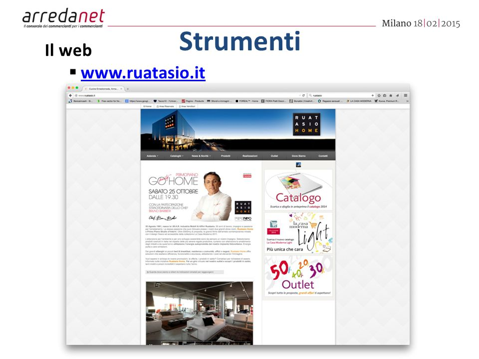 Strumenti Il web  www.ruatasio.it www.ruatasio.it