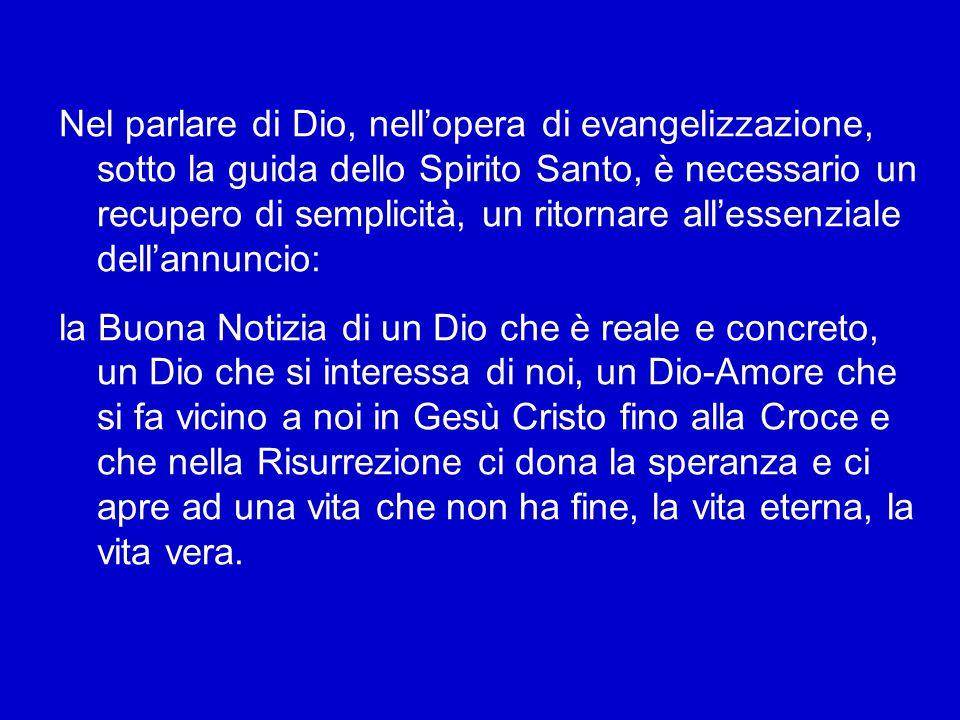 Il metodo di Dio è quello dell'umiltà – Dio si fa uno di noi – è il metodo realizzato nell'Incarnazione nella semplice casa di Nazaret e nella grotta di Betlemme, quello della parabola del granellino di senape.