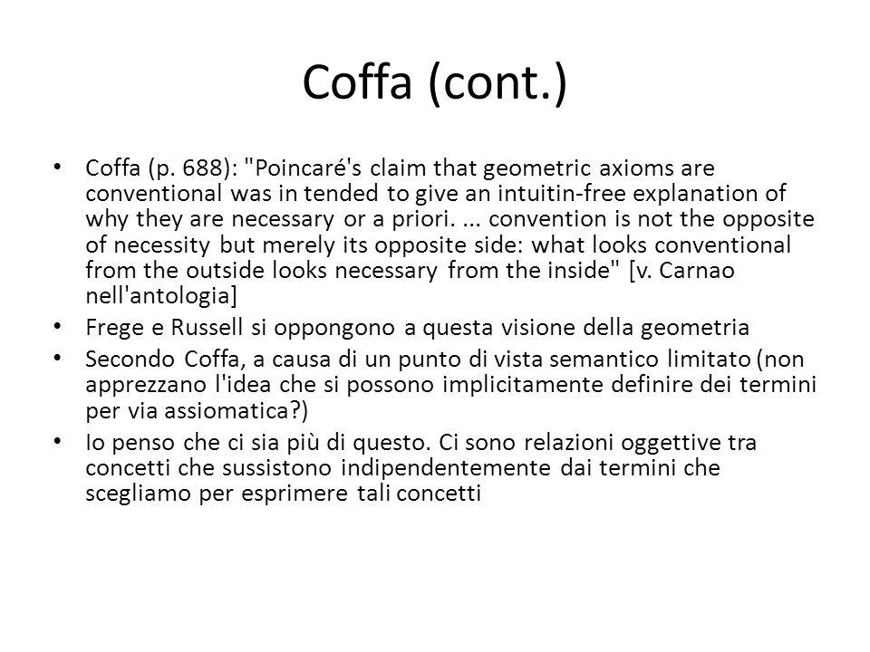 Coffa (cont.) Coffa (p. 688):