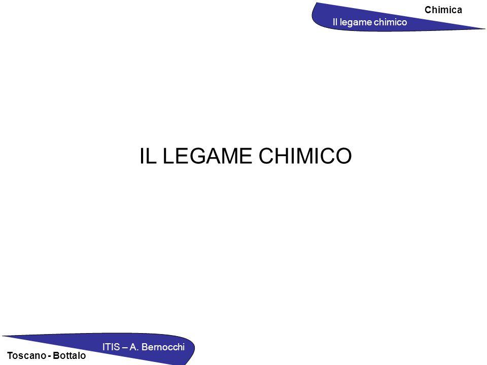 Chimica Il legame chimico ITIS – A. Bernocchi Toscano - Bottalo IL LEGAME CHIMICO