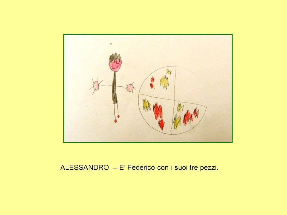 ALESSANDRO – E' Federico con i suoi tre pezzi.