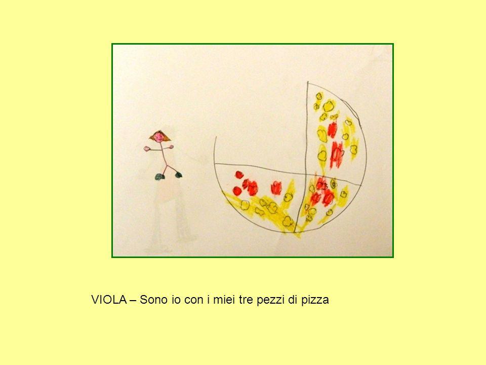 VIOLA – Sono io con i miei tre pezzi di pizza