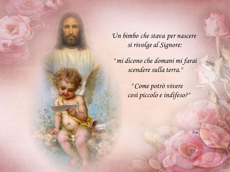 Un bimbo che stava per nascere si rivolge al Signore: mi dicono che domani mi farai scendere sulla terra. Come potrò vivere così piccolo e indifeso?