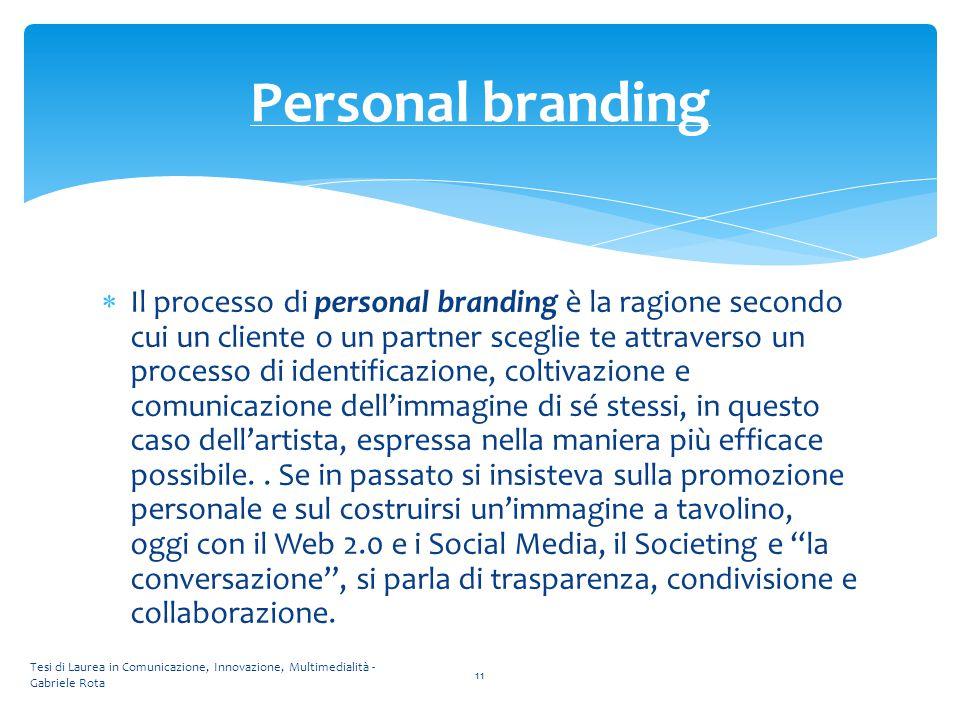  Il processo di personal branding è la ragione secondo cui un cliente o un partner sceglie te attraverso un processo di identificazione, coltivazione